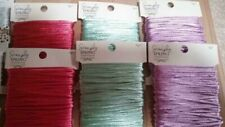 simply string construction Cord 30 ft per spool 6 total. pink, purple, green