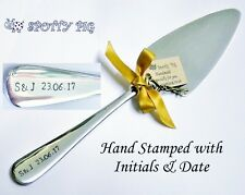 Personalised Initials & Date Wedding or Celebration Cake Slice Server Gift