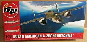 AIRFIX NORTH AMERICAN  B-25C/D MITCHELL 1:72 SCALE MODEL KIT WW2 MEDIUM BOMBER