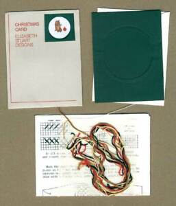 Elizabeth Stuart Kitten and Ornament Christmas Card Counted Cross Stitch Kit