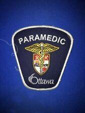 OTTAWA PARAMEDIC PATCH, EMS AMBULANCE, ONTARIO CANADA