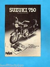 TOP974-PUBBLICITA'/ADVERTISING-1974- POLISTIL - SUZUKI 750