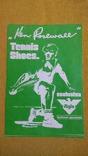 Adesivo Sticker Ken Rosewall TENNIS SHOES  cm 17 x 11,5 circa Ottime condizioni