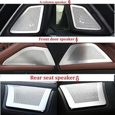 Stainless Steel Speaker Cover Frame Trim 6pcs for BMW 5 Series F10 F18 2011-2017