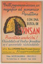 53217 -  ITALY Italia - VINTAGE ADVERTISING POSTCARD: FOOD preparation PANETTONE