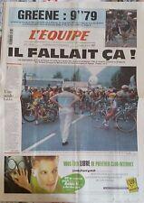 L'Equipe Journal 17/6/1999; Greene 9''79/ Choix des organisateurs du Tour de Fr