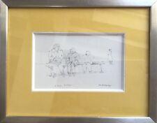 Jean-Jacques RENÉ 1943.À Rouen.1977.Crayon.SBD.16x10.Situé et daté.Cadre.