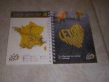 CYCLISME TOUR FRANCE 2008 CARNET de NOTES avec CARTE et LISTE ETAPES