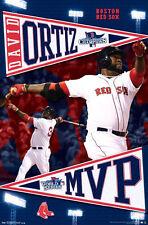 DAVID ORTIZ WORLD SERIES MVP 2013 Boston Red Sox Commemorative MLB Wall POSTER