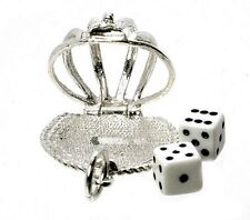 STERLING SILVER OPENING DICE IN CAGE CHARM