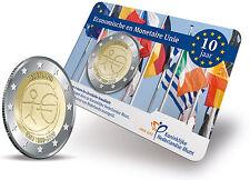 NEDERLAND    2 Euro 2009   10 jaar  EMU UNC IN COINCARD   Op voorraad / in stock