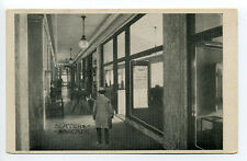 Worcester MA Mass people walking Slater Arcade, Slater Building, early