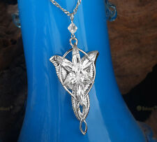 Ncie LORD OF THE RINGS Silver Plated Arwen Evenstar Crystal Necklace Pendant