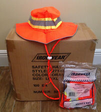 1 Case 100/pc Brand New IRONWEAR Orange Reflective Safety Booney Hats