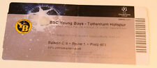 OLD TICKET CL BSC Young Boys Bern Switzerland Suisse Tottenham Hotspur England