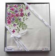 "Beauville France ""Fleurs De Lin"" Cotton Tablecloth 55"" X 102"" (140x260 cm) - NEW"