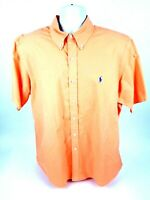 Ralph Lauren Mens XL Short Sleeve Button Front Peach Shirt