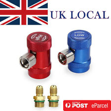 2Pcs Red+Blue R1234yf Quick Connector Refrigerant Air Conditioning Adapter UK