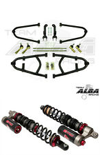 TRX 450R Long Travel Adjustable  +2 A Arms  Elka Stage 3 Shocks   Alba Racing