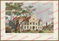 or. Farblitho Bad Wörishofen Kasino Architektur Jugendstil Hessemer München 1908