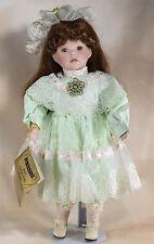 "Seymour Mann Connoisseur Collection 16"" Porcelain Doll Auburn Hair Green Eyes"