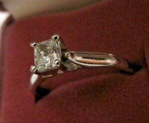 18k W.Gold GIA Certified  Diamond Ring 0.51CT