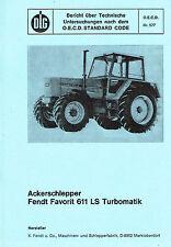 Fendt Favorit 611 LS Turbomatik, orig. DLG- Bericht 1977