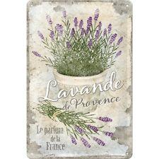 Lavande Lavendel de Provence Blechschild Metal Tin Sign 3D geprägt 20 x 30 cm