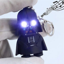 white Light Up LED Star Wars Darth Vader With Sound Key ring Keychain Chic Gift