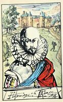 Salvador DALI :  Hommage à la France - Rare estampe signée, 1948