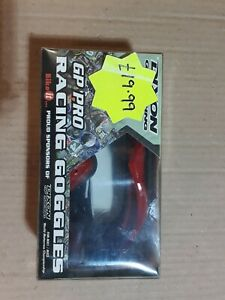 GP PRO MOTOCROSS RACING GOGGLES. RED. NOS.