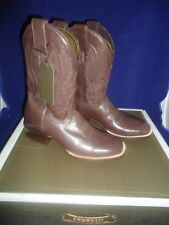 New Stetson Men's Western Boot-size 9.5 D New Box with a Square Toe