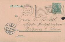 ALLEMAGNE - HAMBURG OMEC DRAPEAUX - 7-8-1906 - ENTIER CARTE POSTALE (P1)