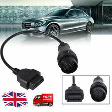 OBD2 OBDII Adapter 38Pin to 16Pin Car Fault Diagnostic Cable For Mercedes Benz