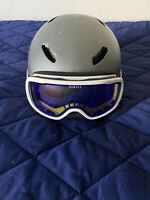 LARGE MENS ADULT SKI AND SNOWBOARDING HELMET WITH GOGGLES (GIRO)