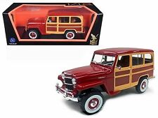 LUCKY DIE CAST 1:18 ROAD SIGNATURE 1955 WILLYS JEEP STATION WAGON CAR 92858BUR