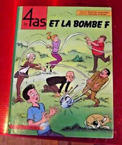 BD les 4 As et la Bombe F par Casterman 1971 album état correcte avec défauts