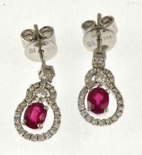 Earrings Piero Milano hanging drop gold 18kt ,diamonds and rubies natural