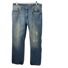 Helix Boot Cut Jeans 34x32 Light Wash Distressed Cotton