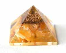 Energia reiki addebitate GIALLO GIADA NATURALE Crystal Orgone potente Pietra Piramide