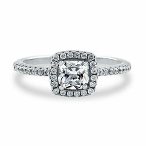VVS1 H-I 0.70 Ct Diamond Engagement 14K Solid White Gold Rings Size N M O I P K