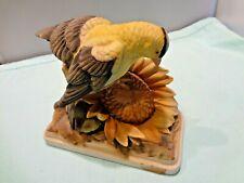Lefton Gold Finch Figurine Porcelain Bird Statue Hand Painted Vintage Kw 864