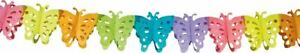 HONEYCOMB MULTICOLOURED BUTTERFLY GARLAND PARTY 6M