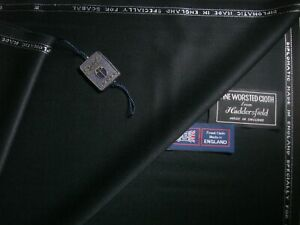 """Scabal WOOL """"Vintage Diplomatic"""" SUITING FABRIC IN BARATHEA, TUXEDO WEAVE=3.33 m"""