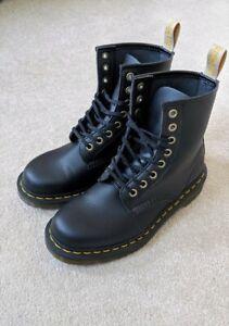 Dr Doc Martens Vegan 1460 Black Ankle Boots Size 5 UK / 38 EU