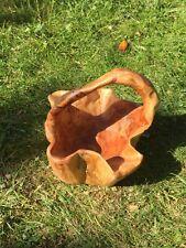Hand geschnitzt Deko Holz Salatschüssel Obstkorb mit Griff Artikel 820