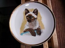 Vintage Japan Seal Point Siamese Cat Plate