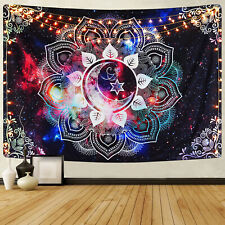 USA Purple Mandala Print Wall Painting Tapestry Hanging Cloth Home Decorative