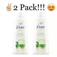 2 Pack Dove Go Fresh Cool Moisture Body Wash Cucumber & Green Tea 3oz