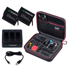 Smatree Hard Carry Case and 2 packs Batteries for GoPro Hero 7/6 Camera
